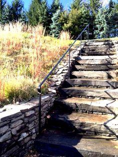 Best Round Stone Walls And Stone Slab Steps Mediterranean 400 x 300