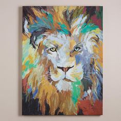 One of my favorite discoveries at WorldMarket.com: 'Safari Lion' by Frank Parson for randy