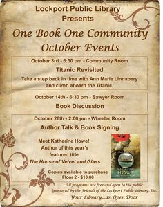 One Book One Community - Lockport Public Library