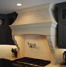Cast Stone Hoods and limestone fireplace custom products