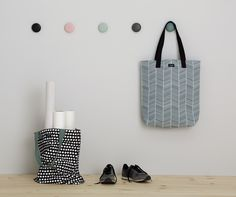 Canvas bags - shoppingbags  www.aspegren.dk Happy House, Tote Bag, Canvas Bags, Denmark, Scandinavian, Totes, Tote Bags