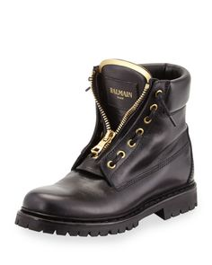 Zip-Front Leather Ranger Boot, Black, How would you style this boot? http://keep.com/zip-front-leather-ranger-boot-black-by-dalabooh/k/0PWcn7ABN7/