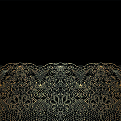 Lace decorative pattern vector background 07