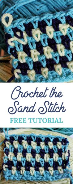 How to do the Sand Stitch ⋆ Rescued Paw Designs Crochet by Krista Cagle