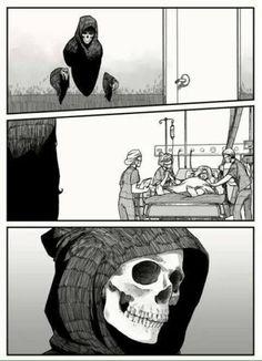 A dona Morte tem um coração afinal.