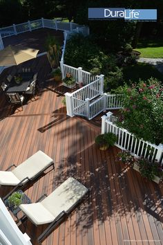 DuraLIfe Brazilian Cherry Decking and White Railways railing installed by WKRemodeling, wkremodeling@yahoo.com