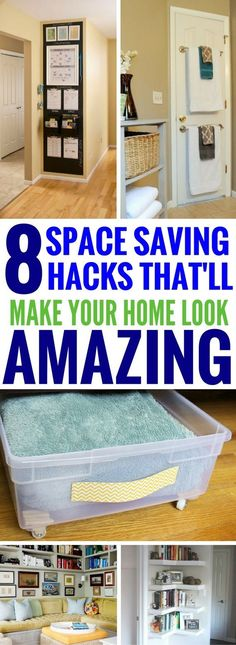 Organization Tips For Small Spaces - The BEST hacks and tips that shows you how to make the most out of small spaces. Really great home decor ideas!