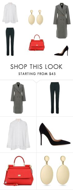 """""""Untitled #9550"""" by mie-miemie ❤ liked on Polyvore featuring Lanvin, Gianvito Rossi, Dolce&Gabbana and Laundry by Shelli Segal"""