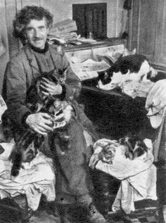 Austin Osman Spare with Cats