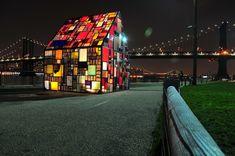 Vidro, Casa, Ponte, Manhattan, Nova Iorque, Criativa