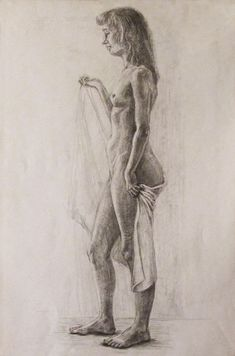 Buy Nude female model, Pencil drawing by Olga Bortsova on Artfinder. Discover thousands of other original paintings, prints, sculptures and photography from independent artists. Figure Drawing Female, Drawing Female Body, Figure Sketching, Figure Drawings, Beautiful Sketches, Drawing Reference Poses, Anatomy Drawing, Pencil Art Drawings, Life Drawing
