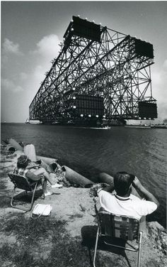 part of an oil platform headed from Corpus Christi, Texas to it's location in the Gulf of Mexico.