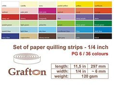 "3600 Paper Quilling Strips, Set of Quilling Paper, Quilling Supplies, Beginner Kit, 6 mm 1/4 Inch wide, 297 mm 11,5"" long, 120 gsm, FREE PAPER QUILLING TUTORIALS * You can find more details by visiting the image link."