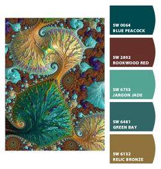 ‿✿⁀ Jewel tones art | Fratual art by Amanda Moore ‿✿⁀ ColorSnap by CNH
