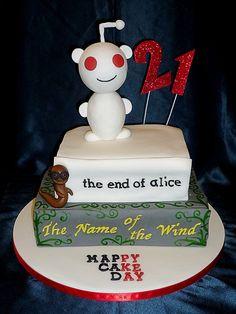 Reddit birthday cake with favourite books by Eva Rose Cakes