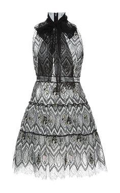 Giambattista Valli Lace A-Line Dress