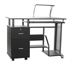 OneSpace 50100505 Rothmin Computer Desk with Storage Cabinet ** Read more reviews of the product by visiting the link on the image.Note:It is affiliate link to Amazon.