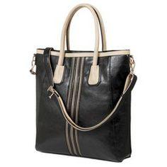Melie Tote Handbag with Removable Crossbody Strap - Black