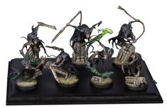 Clan Eshin Warband by Steve Party. Converting Nighthaunts into Clan Eshin is Grey Seer-level genius. Warhammer Skaven, Warhammer Aos, Fantasy Battle, Game Workshop, Mini Paintings, Colour Schemes, Painting Inspiration, Decorative Bells, Concept Art