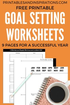 Goal Setting Worksheets - How To Set Goals Every Year - Printables and Inspirations Goals Planner, Fitness Planner, Weekly Planner, Happy Planner, Printable Calendar Template, Printable Planner, Free Printables, Goal Calendar, Kids Calendar