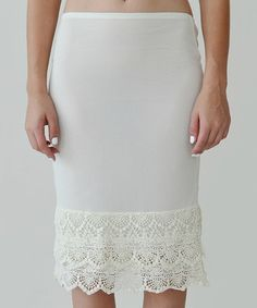 Another great find on #zulily! Ivory Lace Slip Extender #zulilyfinds