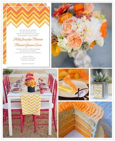 Chevron Wedding Inspiration Board