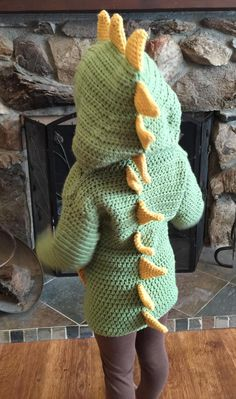 e3f4ce0b2683c0 3T 4T Dino  Dinosaur Hooded Sweater with Spikes