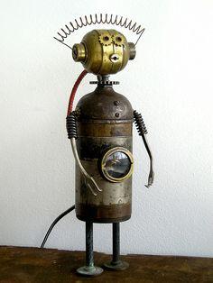 """Zelda"" Assemblage Robot Sculpture | Flickr - Photo Sharing!"