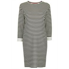 TOPSHOP MATERNITY Striped Jersey Sweat ($44) ❤ liked on Polyvore featuring maternity, dresses and cream