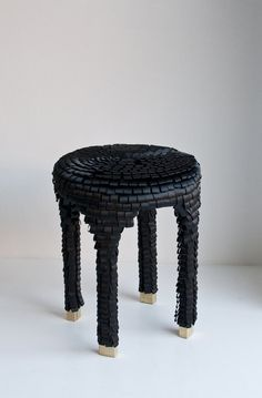 Ribbon by Swedish Asshoff & Brogård is an upholstered stool inspired by haute couture, hats and accessories. Luxury Furniture, Home Furniture, Furniture Design, Furniture Ideas, Thin Brick Veneer, Weathering Steel, Stone Siding, Outside Decorations, Couches