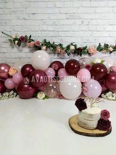 #bohocakesmash #girlcakesmash #burgundycakesmash #pinkcakesmash #nakedcake #nakedsmashcake #bohofirstbirthday #firstbirthdaycakesmash Gold First Birthday, First Birthday Party Themes, First Birthday Cakes, Birthday Decorations, Birthday Ideas, Balloon Arch, Balloon Garland, Balloons, Baby Cake Smash