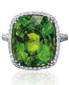 Peridot and Diamond Ring by Cellini Jewelers