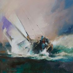 Peter Wileman, Royal Society Of Arts, Mall, Sea Storm, Classic Sailing, Sailboat Painting, Boat Art, Nautical Art, Seascape Paintings