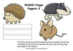 Wildlife Finger Puppets 2
