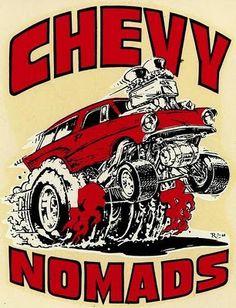 57 Nomad Car-Toon ... Ed Roth Art.