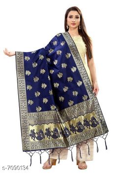 Checkout this latest Dupattas Product Name: *Stylish Women's Dupatta* Fabric: Banarasi Silk Pattern: Zari Work Multipack: 1 Sizes:Free Size (Length Size: 2.2 m)  Country of Origin: India Easy Returns Available In Case Of Any Issue   Catalog Rating: ★4 (407)  Catalog Name: Stylish Women's Dupattas CatalogID_1131560 C74-SC1006 Code: 172-7090134-606