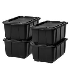 IRIS Black Tote with Standard Snap Lid at Lowe's. Take toughness to another level. These heavy duty Utility Tough Totes made of durable plastic help keep contents safe and secure. Plastic boxes hold up to