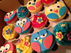 Sweet Little Owl Cupcakes