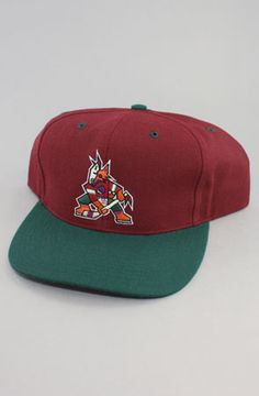 Phoenix Coyotes Snapback Hat (Burg/Grn) by Vintage Deadstock