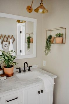 This modern boho bathroom remodel was definitely one for the books. Deciding to demo right before a deployment on top of being 6 months pregnant. The modern boho design is great for a guest bathroom and fun enough for a children's bathroom. Diy Bathroom Remodel, Diy Bathroom Decor, Bathroom Interior, Bathroom Ideas, Bathroom Storage, Bathroom Organization, Bathroom Makeovers, Bathroom Cabinets, Bathroom Inspiration