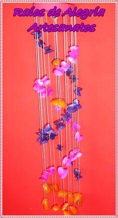 Raios de Alegria Artesanatos: Arte com conchinhas do mar.