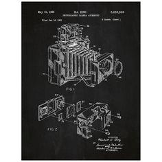 Camera Vintage octrooi Poster scherm afdrukken decoratie