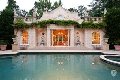 French Inspired Pool House home ideas exterior exterior design exterior ideas home exterior design pool house