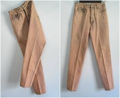 Vintage Acid Washed Colored Jeans 1980s High by rileybella123, $25.00