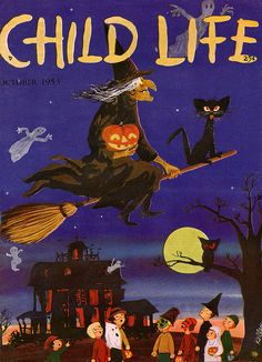 wonderful cover for Child Life magazine, illustrated by Mark Kelley, 1953. i love the looks on the kids faces!