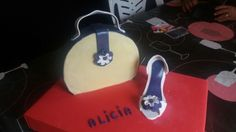 Bolso y zapato fondant