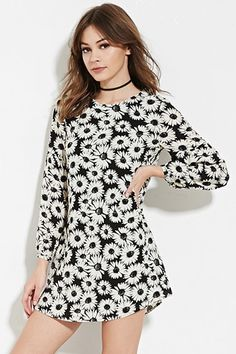 Buy it now. FOREVER21 Women's  Black & Cream Floral-Print Shift Dress. floral print,shift dress , vestidoinformal, camisole, túnica, shift, pleat, pleated, drape, t-shape, daisy, foldedshoulder, summer, loosefit, tunictop, swing, day, offtheshoulder, smock, print, printed, tea, babydolldress, polodress, pansybow, sundress, offshoulder. Black FOREVER21  casual dress  for woman.