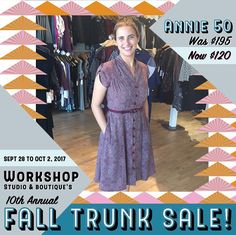 Anyone remember this piece? We sure do! And it's back at deep discount for Trunksale. Join the fun this Thursday at Workshop on Dalhousie kicking off at 6pm and runs straight through til Monday at closing. See you theeeere!  #trunksale #workshopboutique #madeincanada #stylegoals #ottawa #ottawafashion #613 #ottawa2017 #northdal #canadiandesigner #madeincanada #ottawa #ottawastyle #ottawalife #ottcity #bywardmarket #ottawastyle #annie50