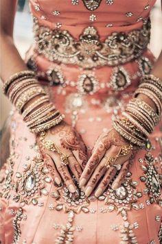 Beautiful pink bridal lehenga ❤•♥.•:*´¨`*:•♥•❤