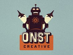 Robot logo suggestion for ONST by Emir Ayouni in 60 Creative Logos for Inspiration